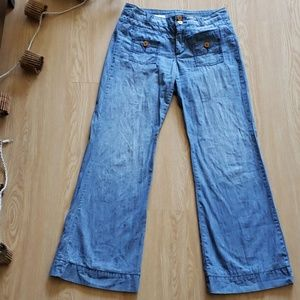 Pilcro and the letterpress flare sailor jeans